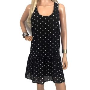 American Rag Black Polka Dot Shift Dress